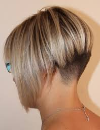 photos of the back of short angled bob haircuts i like how it is shaved but the top needs more layers i the back