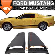 mustang eleanor parts 05 14 ford mustang eleanor side window louvers covers black