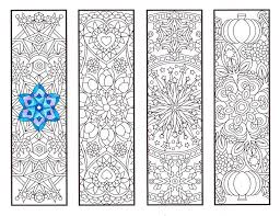 coloring bookmarks cool weather mandalas coloring