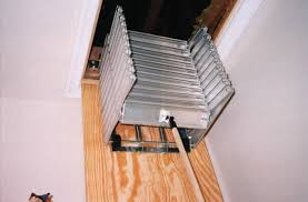 awesome attic stairs how to clean telescoping attic stairs