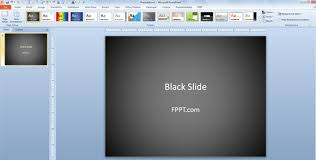 powerpoint design colors how to change powerpoint presentation to use black slide