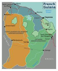 Regions Of South America Map by Detailed Regions Map Of French Guiana French Guiana South