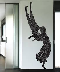 wall decals of people silhouette wall decals stickerbrand vinyl wall decal sticker angel take off 1236