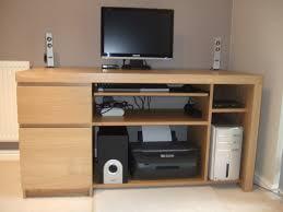 Computer Storage Desk Snazzy Wood Ikea Computer Desk With Equipment Storage Unit Idea