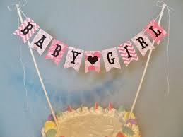 cake topper banner baby shower cake topper banner baby girl cake bunting gender