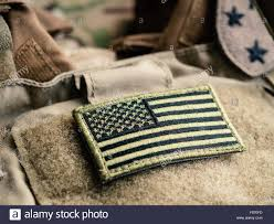 Military Flag Patch American Military Flag Patch On Stockfotos U0026 American Military