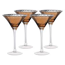 martini glasses cheers artland inc leopard silver martini glasses set of 4 hayneedle