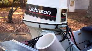 1960 evinrude boat 70hp johnson outboard starting youtube