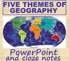 5 themes of geography lesson five themes of geography in pictures with music history classroom