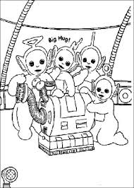 teletubbies vacuum cleaner coloring free