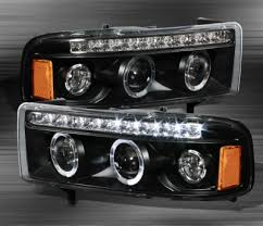 99 dodge ram led lights dodge ram 1994 2001 black halo projector headlights with led drl