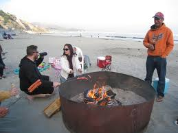 Beach Fire Pit by There Is A Portion Of The Beach Where You Can Have A Fire Pit And
