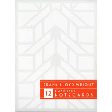 embossed note cards frank lloyd wright embossed notecards lacma store