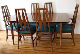 mid century expandable dining table top 64 awesome vintage mid century dining chairs table modern