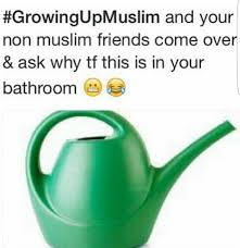 muslim bathroom watering can you know just to water the plants izlam