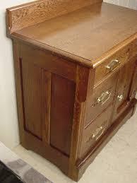 eastlake oak chip carved washstand
