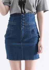 high waisted skirts blue button fly high waist denim skirt skirts bottoms