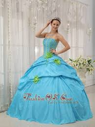 10 best taffeta embroidery puffy 2013 blue quinceanera gowns