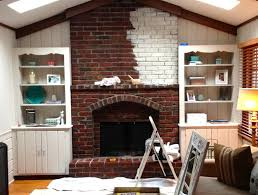 exciting brick fireplace paint and painting brick fireplace before