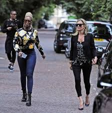 moss and kate moss and j blige make a poignant visit to george