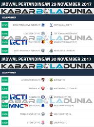 Jadwal Liga Inggris Jadwal Bola Liga Inggris Pekan Ke 14 29 30 November 2017