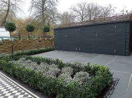 brick garden wall path tile grey topiary london balham clapham