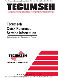 tecumseh quick reference and troubleshooting for engines and