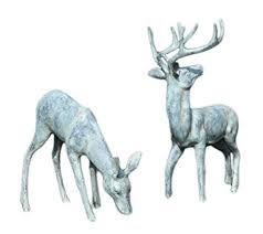 spi home 33686 garden deer pair sculpture outdoor