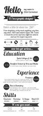 Media Resume 43 Best Creative Resumes Images On Pinterest Creative Resume