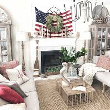 American Flag Home Decor Plum Prettyfarmhouse 4th Of July Living Room Decor U2014