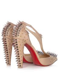 christian louboutin goldostrap 100mm spike embellished leather