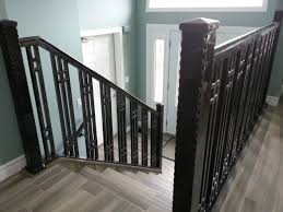 Modern Banister Rails Stairs Astonishing Stair Railings Metal Steel Railings For Steps