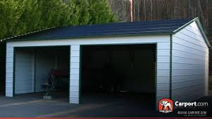 metal building with two garage doors 22 u0027 x 26 u0027 shop carports online