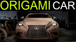 new lexus commercial model lexus unveils world u0027s first origami car made from cardboard lexus