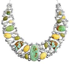 sterling silver necklace designs images Polish designer pomianowski genuine turquoise and butterscotch jpg