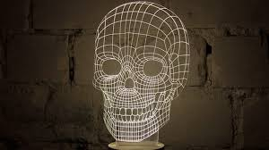 3d Lamps Amazon This 3d Skull Is Actually A 2d Lamp Designed For The Moma
