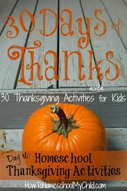 homeschool thanksgiving activities for weekend links 30