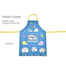 tablier cuisine rigolo tablier de cuisine en coton decor herisson rigolo fox trot achat