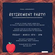 retirement celebration invitation template smart tag me