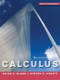 calculus multivariable 2nd edition blank u0026 krantz vector