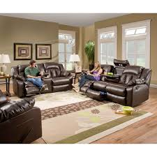 Motion Living Room Furniture Simmons Upholstery Sebring Bonded Leather Double Motion Sofa