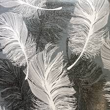 Feather Wallpaper Home Decor Coloroll Feather Monochrome Wallpaper M0925