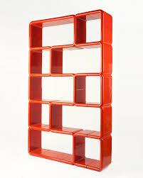 Revolving Bookshelf Orange Red Modular Plastic Umbo Bookshelf At 1stdibs