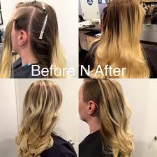 color by chaz edgy cut with beautiful blonde balayage