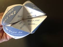 paper fortune tellers u2013 social skills games for children with