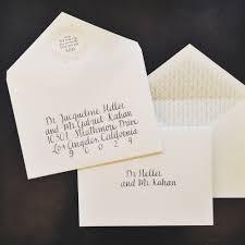 addressing wedding invitations no inner envelope u2013 bernit bridal