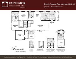 schult modular home floor plans schult chateau elan inverness excelsior homes west inc