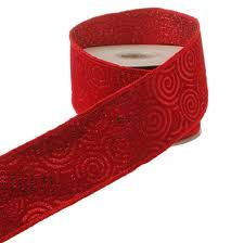 raz 2 5 inch flocked swirl wired ribbon shelley b home and