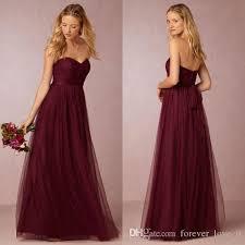 wedding dress maroon 2016 vintage country bridesmaid dress formal burgundy maroon