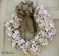 hydrangea wreath diy pink hydrangea wreath